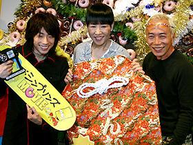 賑やかな日本語版シンプソン一家! (左から)田村淳、和田アキ子、所ジョージ「ザ・シンプソンズ MOVIE」