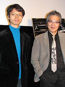 世界初の無修正版 (左から)シン・チョル、イム・サンス監督「ユゴ 大統領有故」
