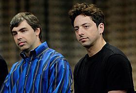 グーグルの創業者の2人「ソーシャル・ネットワーク」