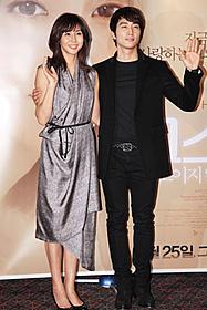 韓国で会見した松嶋菜々子とソン・スンホン「ゴースト もういちど抱きしめたい」