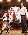 次世代アクション女優の武田梨奈、後楽園ホールでKO勝ち