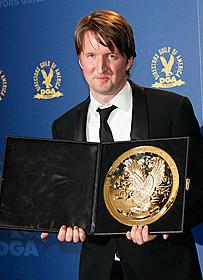 DGA賞を制し、喜びの表情「英国王のスピーチ」