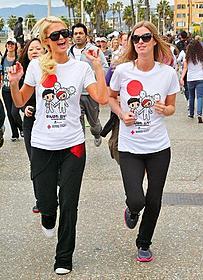 被災者支援のチャリティマラソンに参加「トランスフォーマー」