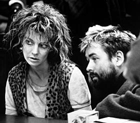 「ニキータ」撮影時のベッソン監督とアンヌ・パリロー「ニキータ」