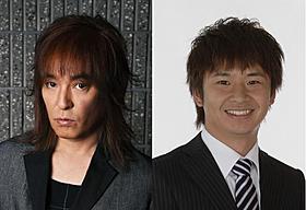 「ユルアニ?」の挿入歌と主題歌を担当する宇都宮隆(左)と若林正恭「オードリー」