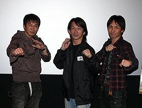 ドニー・イェンの魅力を語った大内貴仁氏、 谷垣健治氏、下村勇二氏(左から)「孫文の義士団」