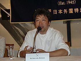 外国人記者向けティーチインに出席した是枝監督「奇跡」