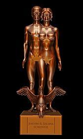 ビーバー&ゴメス、ブロンズ像に