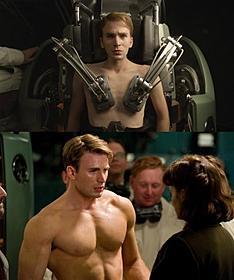 もやし男子がムキムキマッチョに「キャプテン・アメリカ ザ・ファースト・アベンジャー」
