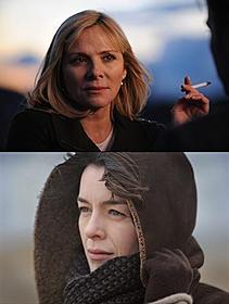 アメリア役のキム・キャトラル(上)と ルース役のオリビア・ウィリアムズ「ゴーストライター」
