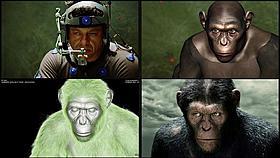 世界最高のCGで本物のサルのように変身!「猿の惑星」