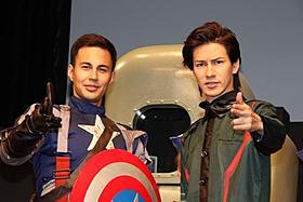 そっくり!?のふたりがイベントで共演「キャプテン・アメリカ ザ・ファースト・アベンジャー」