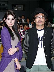 トークショーを行った園子温監督と冨樫真「恋の罪」