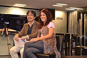 トークショーを行ったLiLiCoとAV評論家の山本浩司氏「ハリー・ポッターと死の秘宝 PART2」