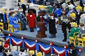 レゴの世界が映画化!(写真はオバマ大統領就任式)「くもりときどきミートボール」