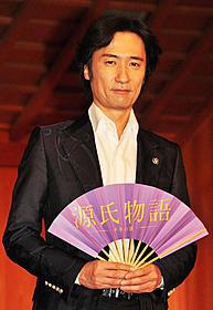 映画「源氏物語 千年の謎」に主演する雅楽師の東儀秀樹「源氏物語 千年の謎」