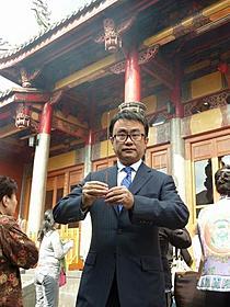 台湾プレミアに出席した三谷幸喜監督「ステキな金縛り」