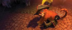 かわいいキャラクターが、ガガの楽曲に合わせてダンス!「長ぐつをはいたネコ」