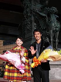 日本橋凱旋を果たした阿部寛と新垣結衣「麒麟の翼 劇場版・新参者」