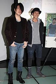 トークショーを行った渋谷慶一郎(左)と伊勢谷友介「セイジ 陸の魚」