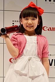 ビデオカメラCMに出演する芦田愛菜ちゃん