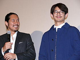 息の合ったトークを披露した 松山ケンイチと瑛太「僕達急行 A列車で行こう」