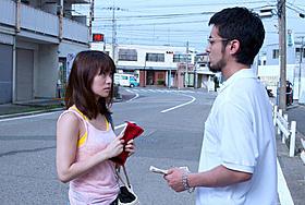 映画「闇金ウシジマくん」に出演する大島優子と主演の山田孝之「闇金ウシジマくん」
