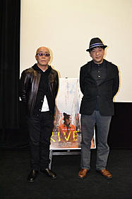 トークショーを行った宮台真司氏(右)と廣木隆一監督「ヴァイブレータ」