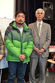 パク・ジョンボム監督と北朝鮮難民救援基金代表・加藤博氏「ムサン日記 白い犬」