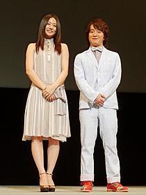 舞台挨拶に立った濱田岳と木村文乃「ポテチ」