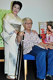 舞台挨拶に立った谷ナオミと小沼勝監督「花と蛇」