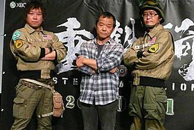 (左より)片岡謙二プロデューサー、押井守監督、 北林達也プロデューサー「イノセンス」