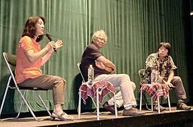 死刑制度を語った勝間和代、安田好弘弁護士、森達也(左から)「死刑弁護人」