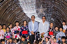 「光の天の川」点灯式イベントに出席した中井貴一、滝田洋二郎監督「天地明察」