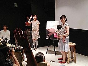 日本の子ども達を前に作品を語った今泉かおり監督「聴こえてる、ふりをしただけ」