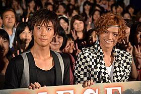 舞台挨拶に立った渡部秀と三浦涼介「PIECE 記憶の欠片」