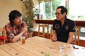 竹清仁監督(左)の「放課後ミッドナイターズ」を 神山健治監督(右)は終始絶賛「放課後ミッドナイターズ」