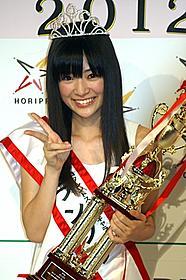 見事グランプリを獲得した菅野さん「ありがとう」