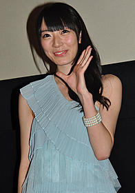 舞台挨拶に立った松井咲子「ビンゴ」