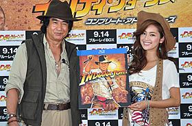 (左から)仰天エピソードを披露した藤岡弘、と人気モデルの中村アン「レイダース 失われたアーク《聖櫃》」