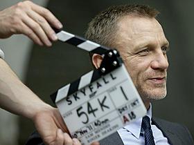 ロンドンでの撮影に臨むダニエル・クレイグ「007 スカイフォール」