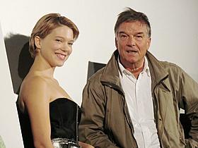 来日したレア・セドゥーとブノワ・ジャコー監督「マリー・アントワネットに別れをつげて」