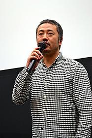 ティーチインに出席した赤堀雅秋監督「その夜の侍」