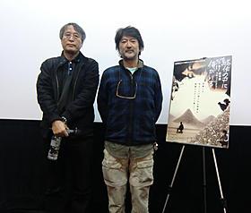 会田誠(右)と渡辺正悟監督「駄作の中にだけ俺がいる」
