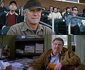 ガス役のクリント・イーストウッド(上)と ピート役のジョン・グッドマン(下)「人生の特等席」