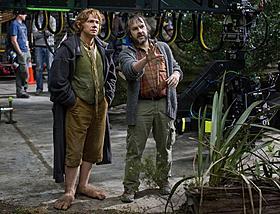 新たに届いたマーティン・フリーマンとピーター・ ジャクソン監督のメイキング画像「ロード・オブ・ザ・リング」