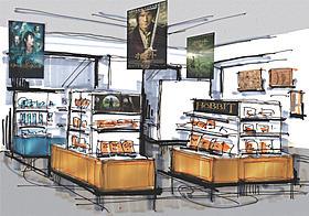 店内も外装も「ホビット」一色に! (※写真は限定ショップのイメージです)「ロード・オブ・ザ・リング」