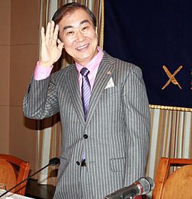 日本外国特派員協会で会見した桂文枝