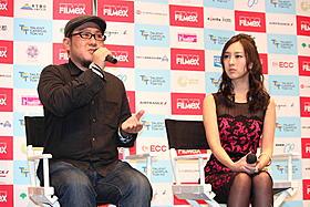 内田伸輝監督と杉野希妃「おだやかな日常」