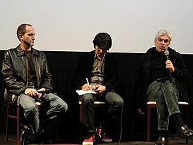 ペドロ・コスタ監督(右)と彫刻家ルイ・シャフェス氏「父ありき」